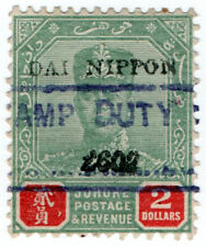 (I.B) Malaya States Revenue : Johore $2 (Japanese Occupation)