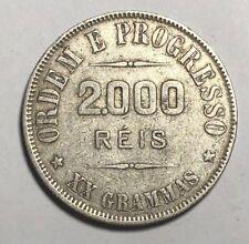 BRAZIL SILVER COIN 2000 REIS 1911 - Moeda Prata Republica