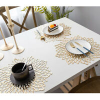 1X PVC Placemats Mat Washable Dining Table Pads Setting For Wedding Party Home