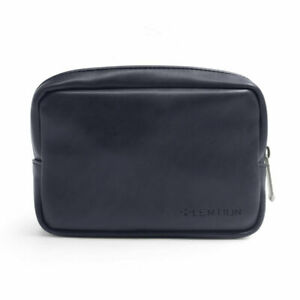 Split Leather Storage Pouch Bag Case AC Adapter Cable Electronics Organizer