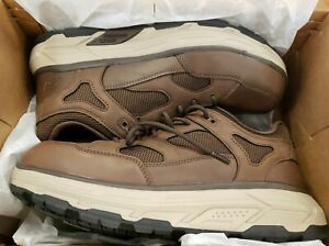 Skechers Men's Alloy Toe EH Slip Resistant Work Shoe 200045/BRN