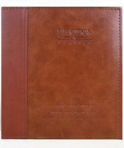 Photo Album Upscale Leather 20 Pages 8R 8X10 Self-Adhesive DIY Wedding