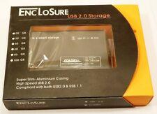 """ENCLOSURE BOX CASE ESTERNO HARD DISK 2,5"""" HD USB  2.0 DRIVE PORTATILE PC NUOVO"""