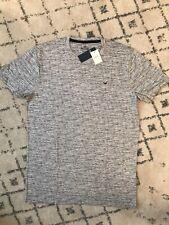 NWT Hollister Men's Must-Have Crewneck T-Shirt, Light Heather Gray , XL