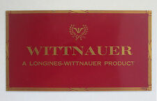 "Longines Wittnauer Watches Brass Advertising Counter Sign Plate 6"" x 3 15/16"""