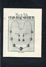 C1960's How to Make Chain Bead Necklets - 23 Page Booklet