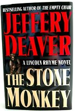 1st Edit STONE MONKEY Jeffry Deaver AUTHOR SIGNED & DATED Lincoln Rhyme PRISTINE