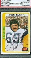 Tom Mack Rams Hof Signed 1978 Topps Psa/dna Autograph Authentic