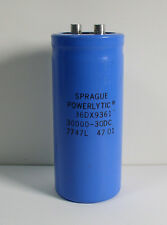 Sprague 36DX9361 Capacitor 30000 - 30DC 7747L