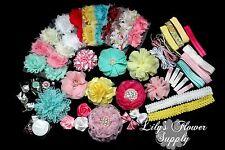 Baby Shower Headband Kit - Deluxe DIY Hair-Bow & Headband Kit - Handmade - Girl