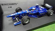 F1 PROST AP01 PEUGEOT # 12 J. TRULLI 1/18 MINICHAMPS 180980012 voiture formule 1