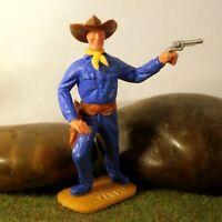 Timpo Toys Made in GT.Britain Steckfigur beweglich Cowboy in mittelbau