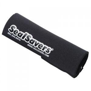 Seal Savers Zip-On Fork Covers 44-50mm Fork Tube, Short Black SSZ134BLK for