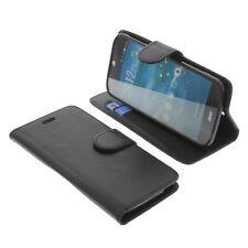 Tasche für Acer Liquid Jade Z Book-Style Schutz Hülle Smartphone Buch Schwarz