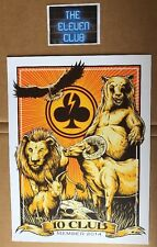 """2014 Pearl Jam 10 Club Poster 9""""x12"""" Print Brendan Heart Ten Vedder OOP LE HOF"""