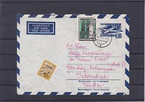 Flugpost Ganzsache mit Zusatzfrankatur gelaufen 1964 Leoben - Türkei