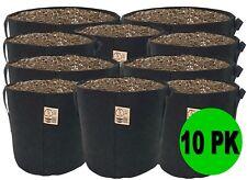 10 Pack Top Grower Fabric Pots 1,2,3,5,7,10,15,20,25,30, 45,65,100,200,300 Gallon