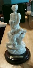 Giuseppe Armani Florence Sculture Porcelain Figurine Woman with Dogs 0593-A Rare