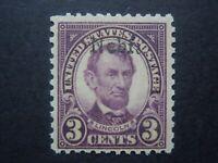 1929 #661 3c High Kansas Overprint EFO MLH OG F/VF