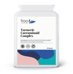 Turmeric Curcuminoid Complex with Black Pepper 90 Capsules - 66mg Curcumin