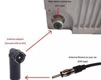 Kfz Auto-Radio Antenne-Adapter DIN-Kupplung Buchse ISO-Stecker Winkel >> NEU <<