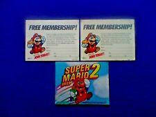 1988 (Nintendo) Super Mario Bros 2 (Instructions Booklet & Membership Cards)