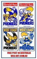 WEST COAST EAGLES 92,94,06 & 18 Prem Fridge Magnets FREE POST IN AUSTRALIA