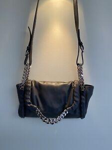 ysl yves saint laurent handbag, new ,genuine, dark grey, ,perfect soft leather