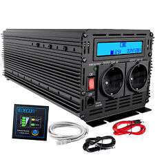 Inversor Convertidor 2000 4000 watt 12v a 220v 230v Inverter Transformator LCD