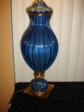 MARBRO Sapphire Seguso Murano Glass Lamp
