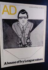 AD Architectural Design magazine July 1968