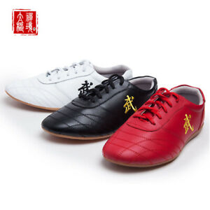 Martial Arts Shoes Trainers Sneakers Leather Sport Footwear Kungfu Taekwondo Hot