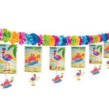 Laternengirlande Girlande Dekogirlande Flamingo Beachparty Geburtstag 3,6m