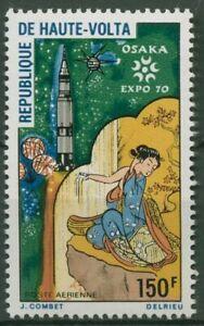Obervolta 1970 EXPO Osaka Rakete Satellit 306 postfrisch