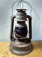 Vintage Red Glass Dietz Little Giant 70 Hour Fount Railroad Barn Lantern Lamp