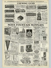 1923 PAPER AD Soda Fountain Ward's Orange Crush Lime Lemon Wood Box Chewing Gum