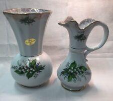 2 Wunderschöne MS Royal Porzellanvasen Mit Maiglöckchen Handarbeit