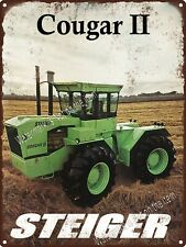 "Steiger Cougar II 2 Tractor Farming Garage Man Cave Shop Metal Sign 9x12"" A181"