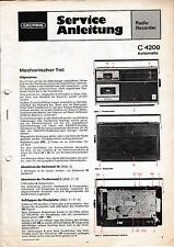 Service Manual-Anleitung für Grundig C 4200 Automatic