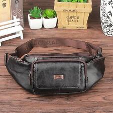 New Men Vintage Genuine Leather Fanny Pack Waist  Bag Travel Sling Chest Bag