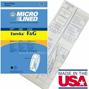 10 Allergy Bags for Eureka Style FandG Vacuum Cleaner F G Sanitaire Commercial