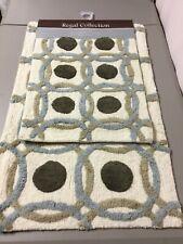 Chesapeake Merchandising Regal Circles Coll. 2 pc. Cotton Bath Mat Rug Set #31V