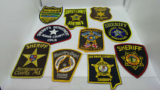 Lot of 10 Different Sheriff / Police Department Patches