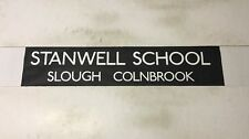 """Slough Bus Blind 258 (31"""") Stanwell School Slough Colnbrook"""