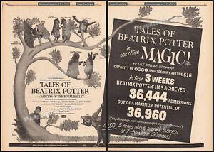 Peter Rabbit__THE TALES OF BEATRIX POTTER__Original 1971 Trade print AD / poster