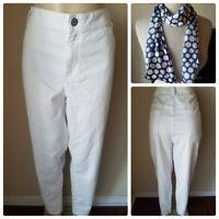 Lane Bryant Women's Pants Jeans White Plus Size Skinny Fit Stretch Size 24