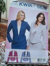 Kwik Sew Ladies Shaped Panel Jacket Pattern 3889 Uncut, Sizes S-M-L-XL