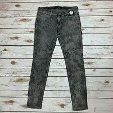 Lucky Brand Womens Jeans Charlie Skinny Lunar Tide Gray Print $119 NWT Size 27 4