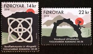 Faroe Islands 2018 Centenary of Fuglafjordur, Set of 2, UNM / MNH