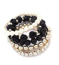 Hot Betsey Johnson Fashion Jewelry Pearl / Flower / Beaded Multilayer Bracelet